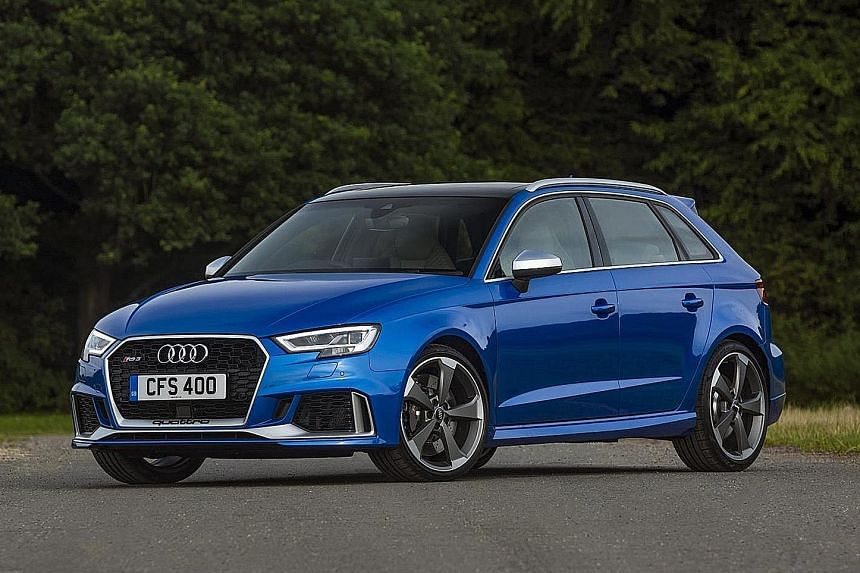 Audi's new RS3 Saloon and Sportback.