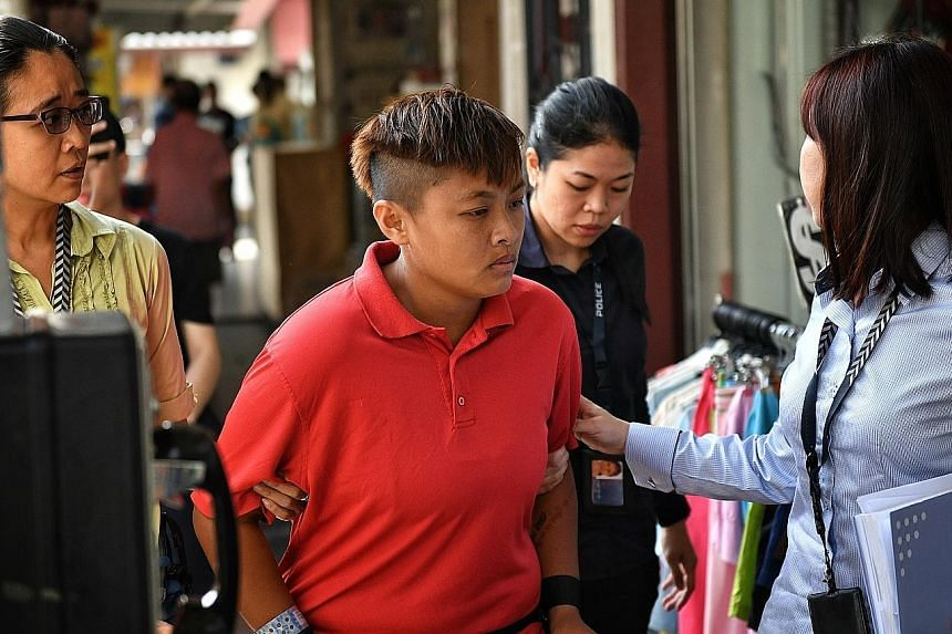 Kuo Fang Ling was taken to a bank branch in Hougang Central and a convenience store in Geylang.