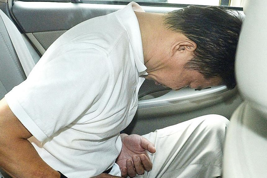 Right: Chia Kee Chen, 57, was found guilty of forcing the victim into the back of a van and assaulting him. Above: Accomplice Chua Leong Aik, 67, who drove the van, is serving a five-year term.