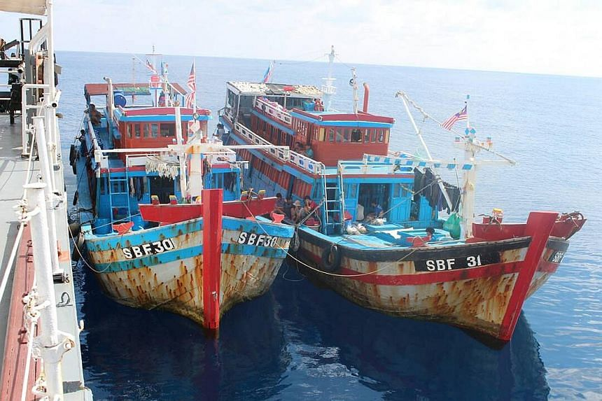 Two Vietnamese boats with 2,000kg of fish were detained by the Malaysian Maritime Enforcement Agency near Pulau Mengalum in Sabah last month.