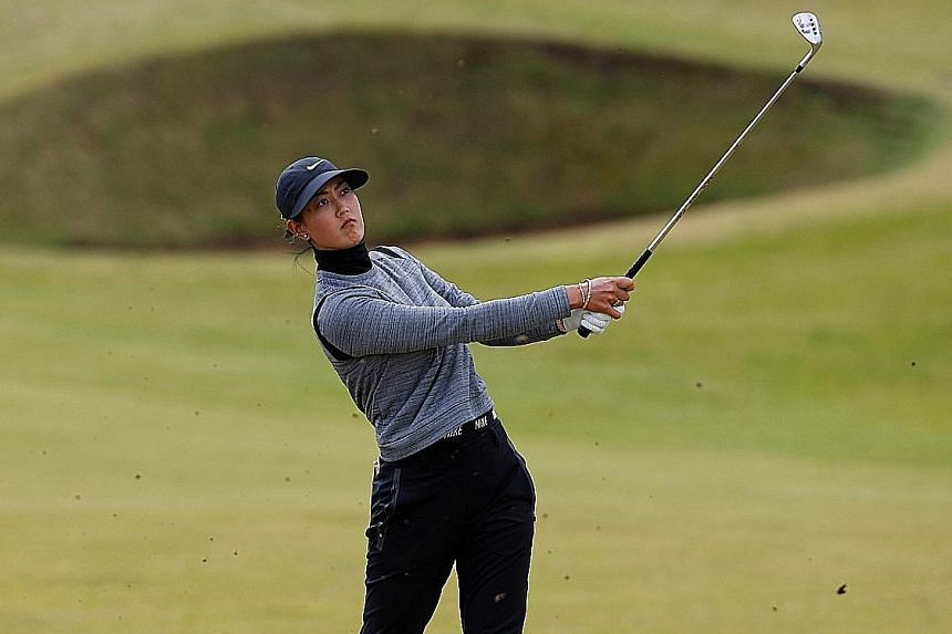 Michelle Wie's best result in the British Open was a tie for third on her debut as a 15-year-old at Royal Birkdale in 2005.