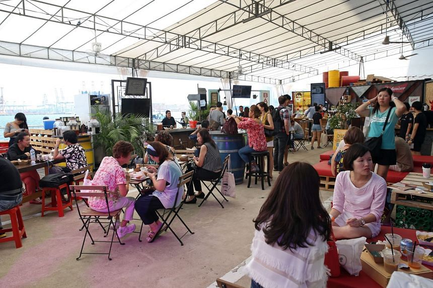 Visitors to the Singapore Coffee Festival have a wide variety of food and drink to try out, and plenty of room to just chill out with friends with a good cup of coffee.