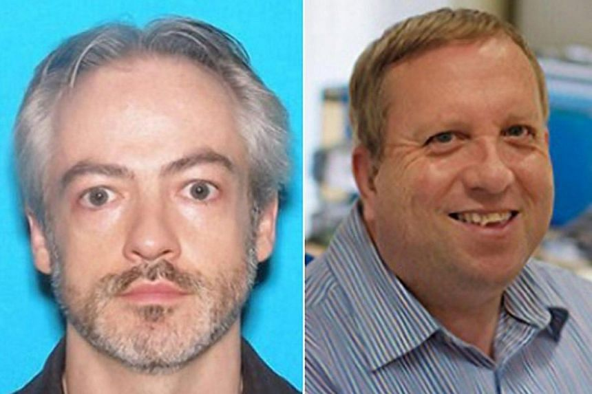 Prof Wyndham Lathem (left), 42, and Andrew Warren (right), 56, wanted for first-degree murder by the CPD in connection with the stabbing to death of Trenton Cornell-Duranleau on July 27, 2017, in Chicago, Illinois, the United States.