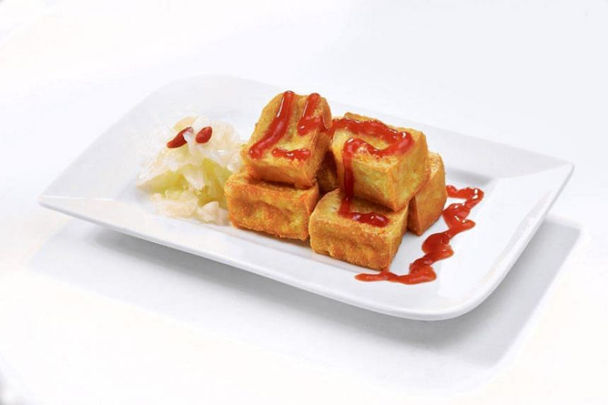 A typical stinky tofu dish found at Taipei's night markets.