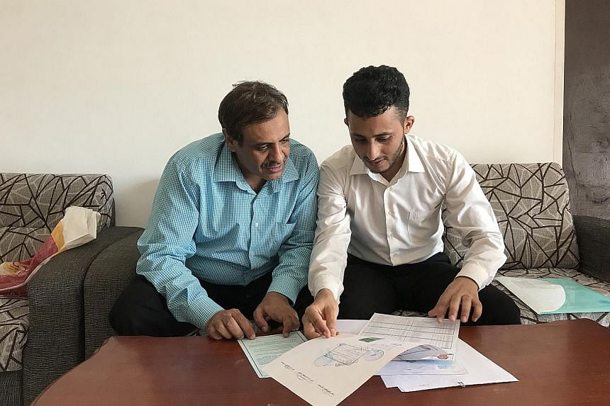 The waiting game continues for Yemenis Sadeq Naji Farhan Alzaraf (left) and Abdualrahaman Mohammad Mohsen Zaid, who are stranded in Malaysia, where they were told to go to apply for their US visas.