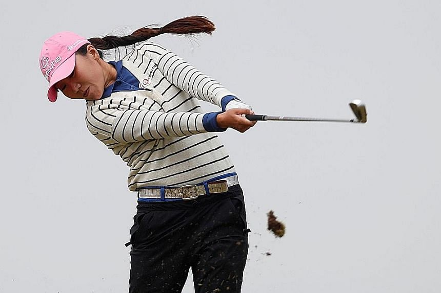 The highlight of Kim In Kyung's second round at the Women's British Open was an eagle at the long 11th. The South Korean famously missed a one-foot putt for a first Major victory at the 2012 Kraft Nabisco Championship, now known as the ANA Inspiratio