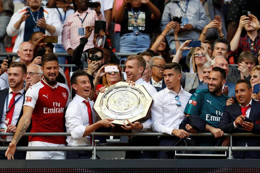 Arsenal have won the Community Shield for the 14th time after beating English Premier League champions Chelsea 4-1 on penalties, courtesy of Theo Walcott, Nacho Monreal, Alex Oxlade-Chamberlain and Olivier Giroud.
