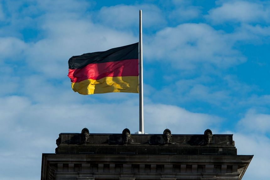 The German flag outside the Reichstag in Belin on June 16, 2017.
