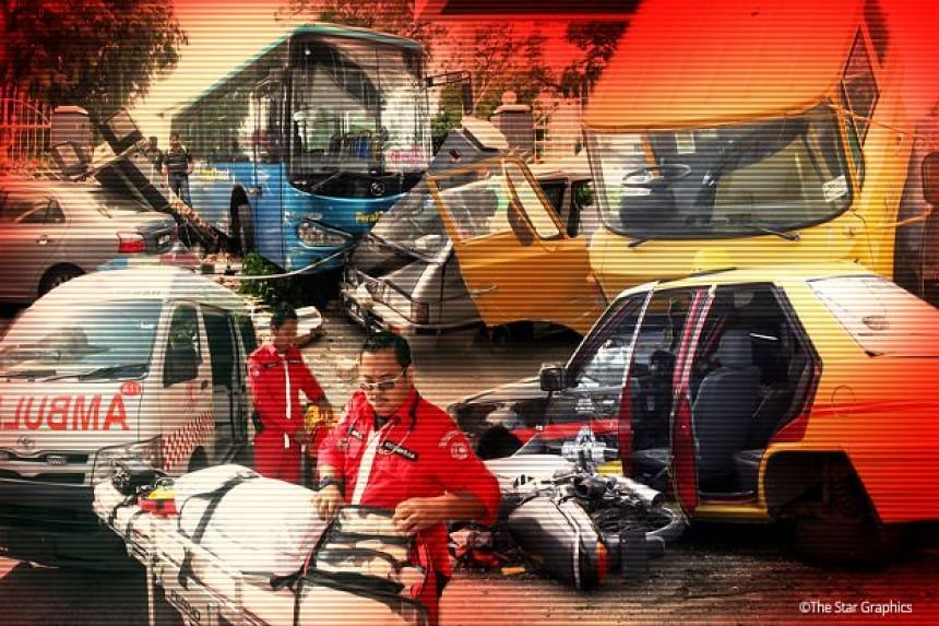 The accident in Selangor occurred when a lorry headed to Kuala Lumpur lost control while trying to avoid a car which abruptly entered the lane it was travelling in.