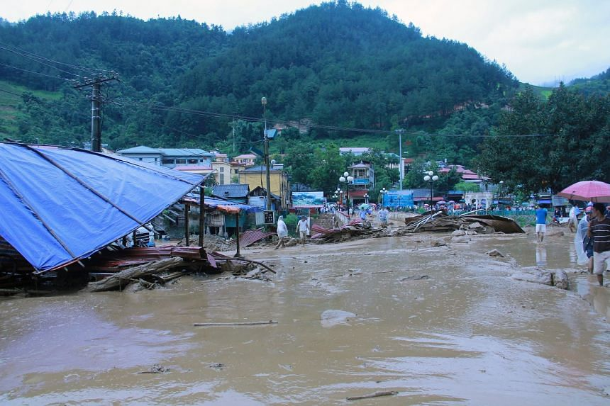 Torrential rains hit several northern mountainous provinces in Vietnam, including Mu Cang Chai in Yen Bai province.