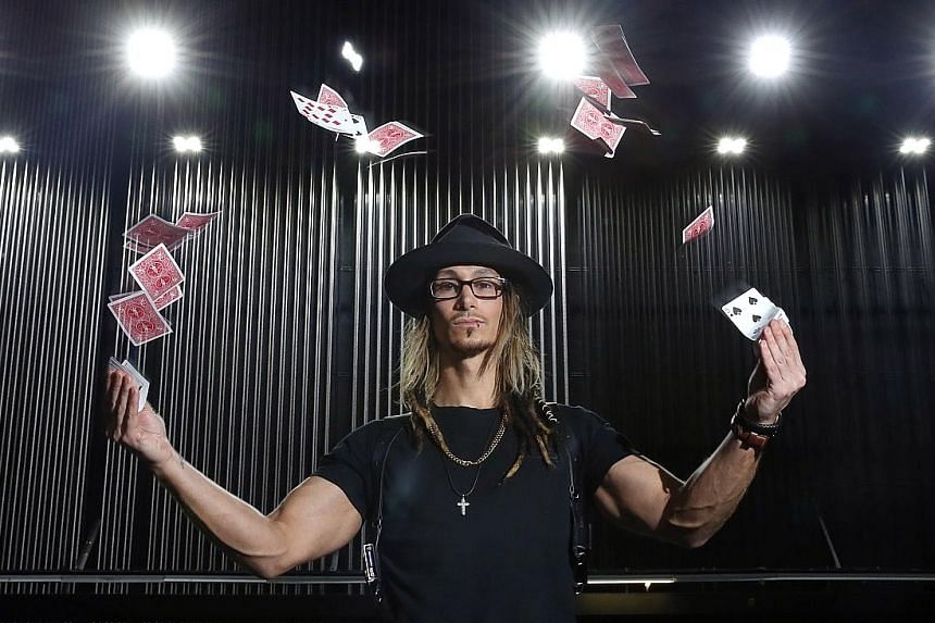 Australian magician Cosentino was set on the path to success after he stumbled on a book about magic in a library.