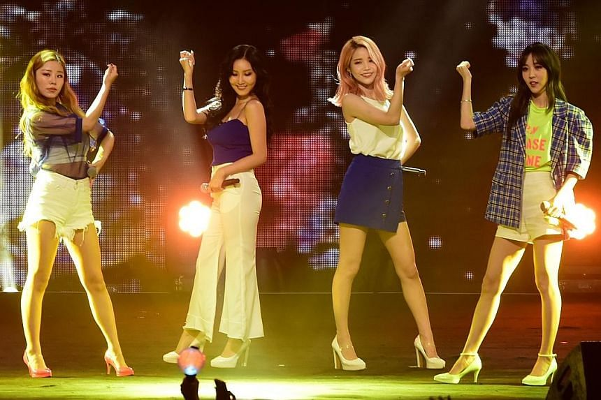 The five acts at the Music Bank World Tour In Singapore included Mamamoo (top), SHINee (above) and BTS (right).