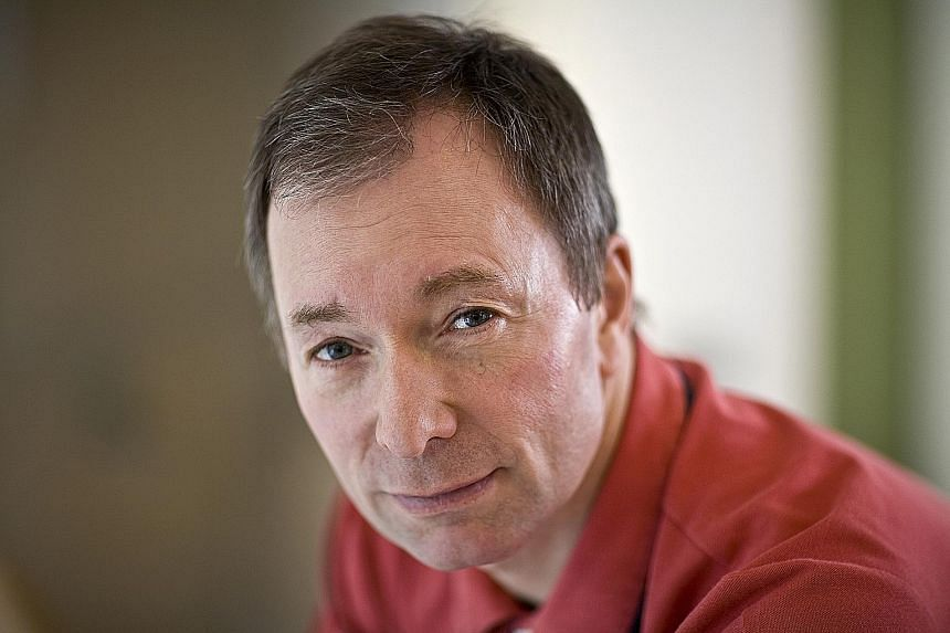 Best-selling British author and broadcaster Tony Parsons (far left) and American science-fiction and fantasy writer Ken Liu will be at the Singapore Writers Festival in November.