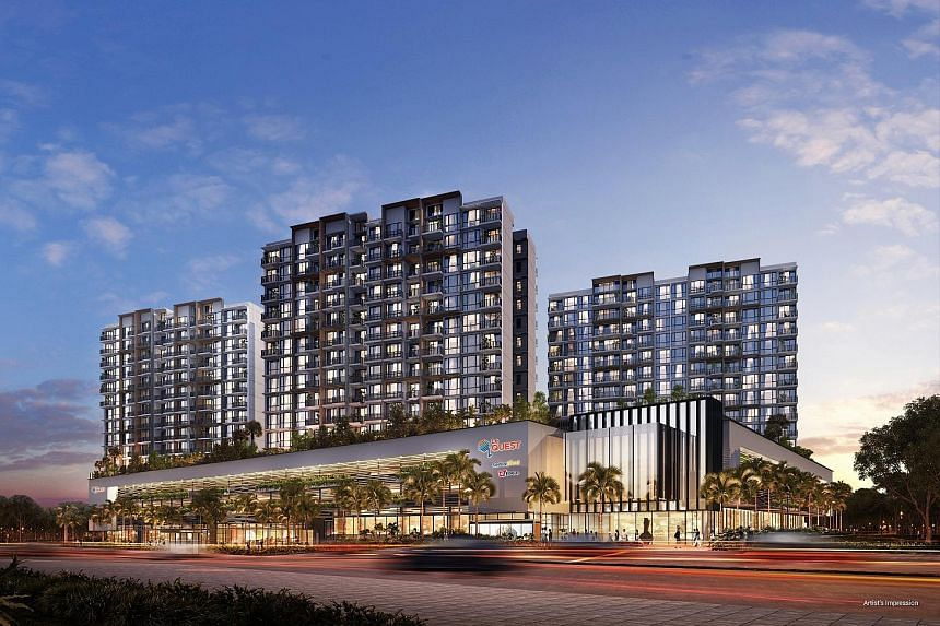 Artist's impression of Le Quest, a mixed development in Bukit Batok. The sales gallery will be closed until phase two of the sales launch.