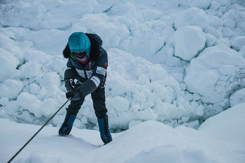 Ms Eirliani Abdul Rahman learnt polar survival skills in the frozen Canadian north in March to prepare herself for her South Pole expedition in December 2018.