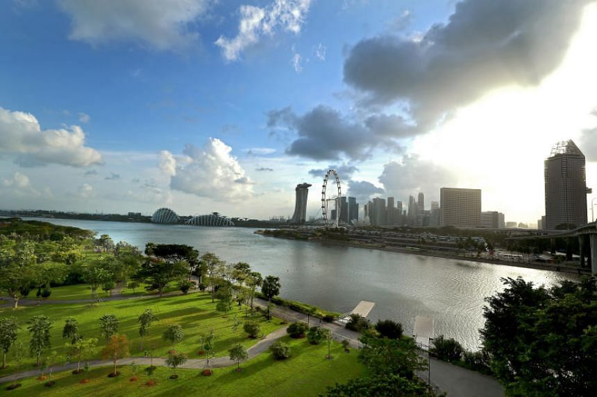 The view of Singapore's city centre as viewed from Bay East Garden, which has been recommended as the site of the Founders' Memorial.