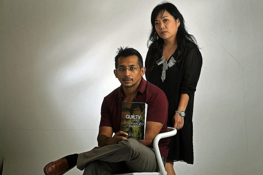 The Straits Times associate news editor Abdul Hafiz Abdul Samad edited Guilty As Charged, while ST executive multimedia designer Sally Lam (both above) designed it.