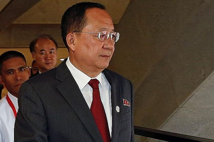 """North Korean Foreign Minister Ri Yong Ho called the fresh sanctions """"fabricated"""", and insisted the United Nations had abused its authority."""