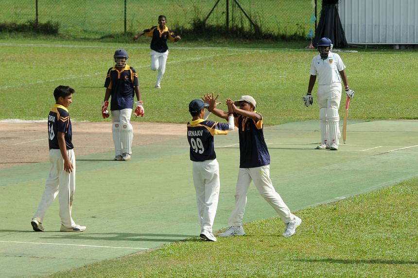 ACS(I) players at the Schools National cricket C Division final in 2016.