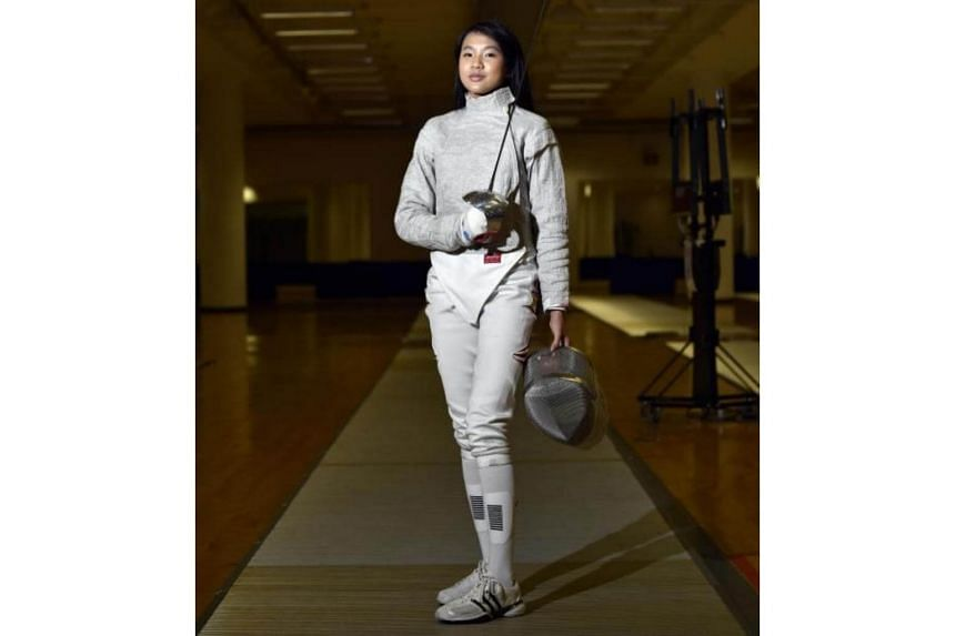 National fencer Lau Ywen, who became the first Singaporean to win gold medal at the Cadet and Junior World Fencing Championship held in France on April 3, 2016.