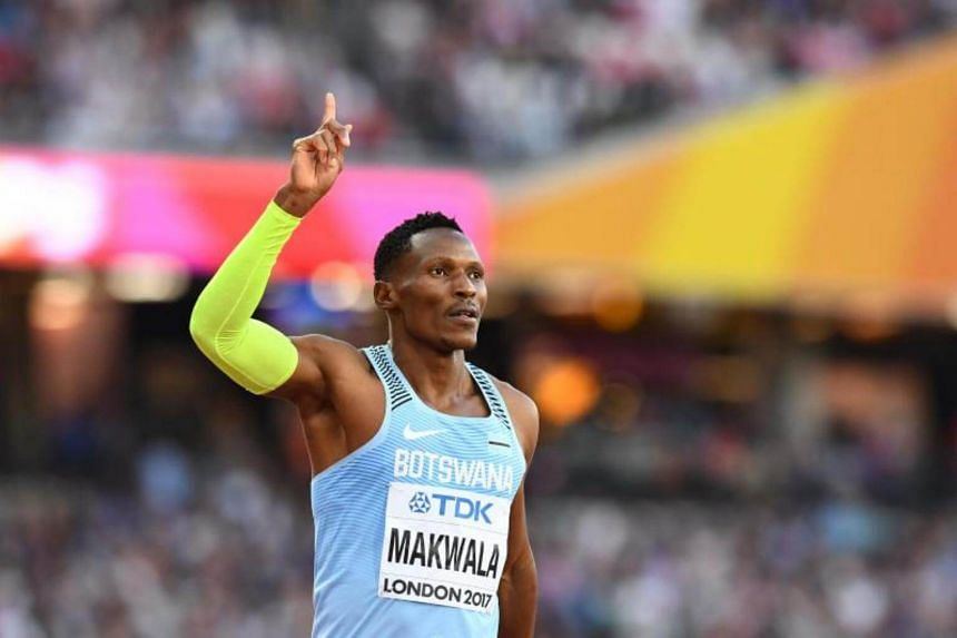 Botswana's Isaac Makwala reacts after the semi-finals of the men's 400m athletics event at the 2017 IAAF World Championships at the London Stadium in London on Aug 6, 2017.