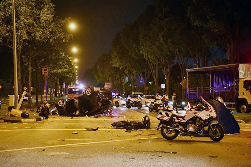 Mr Muhammad Khairman Mohamed Sabari was killled when a car crashed into the motorbike he was riding on Monday (Aug 7).