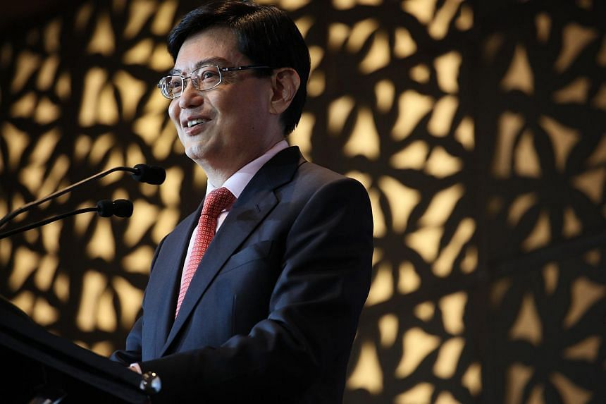 Minister Heng Swee Keat speaking at the ESS Annual Dinner 2017.