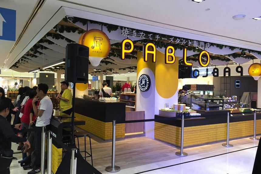 Pablo's maiden outlet in Wisma Atria at 9.20am. The tarts will go on sale at noon on Tuesday (Aug 8).