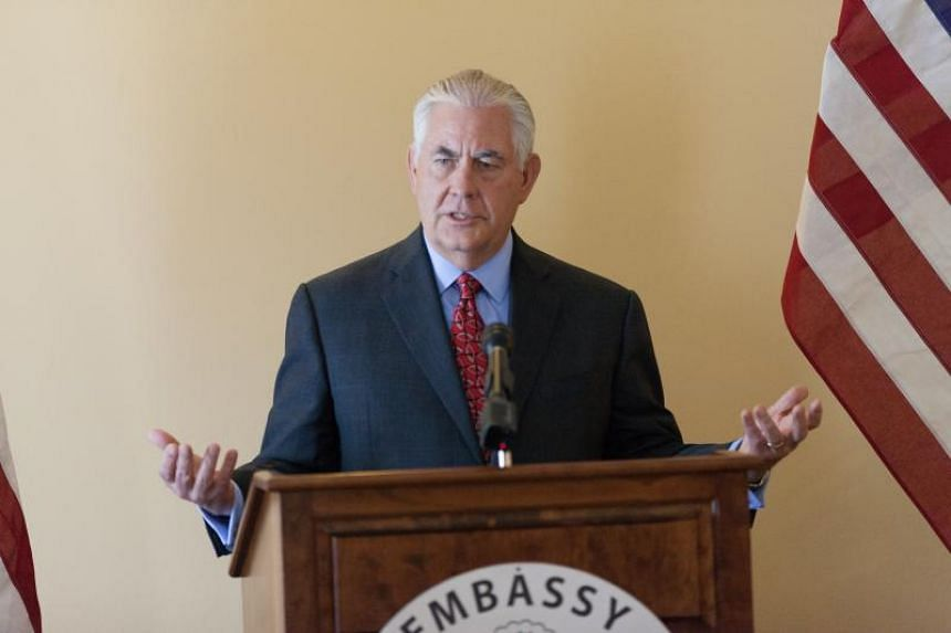 US Secretary of State Rex Tillerson speaks to the press in Manila on Aug 7, 2017, on the sidelines of the ASEAN Foreign Ministers' Meeting.