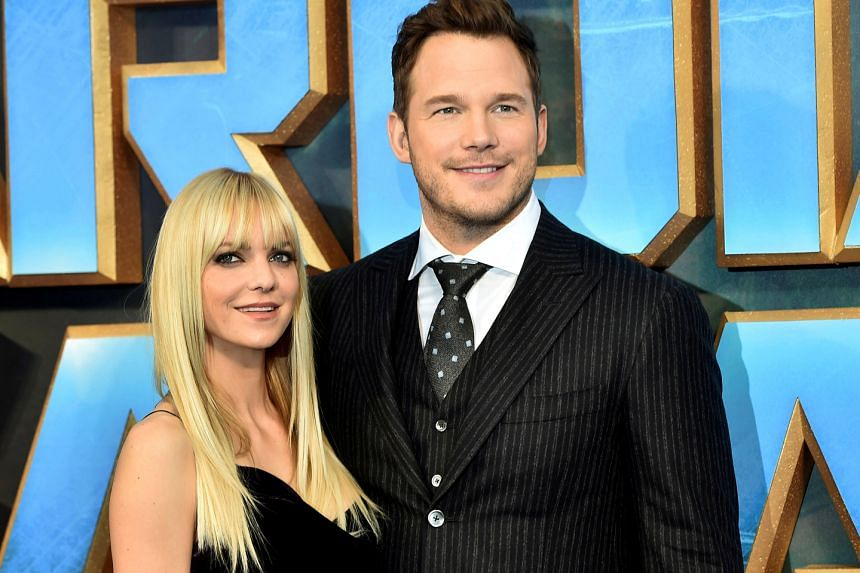 Anna Faris and Chris Pratt at the London premiere of Guardians Of The Galaxy Vol. 2 in April.
