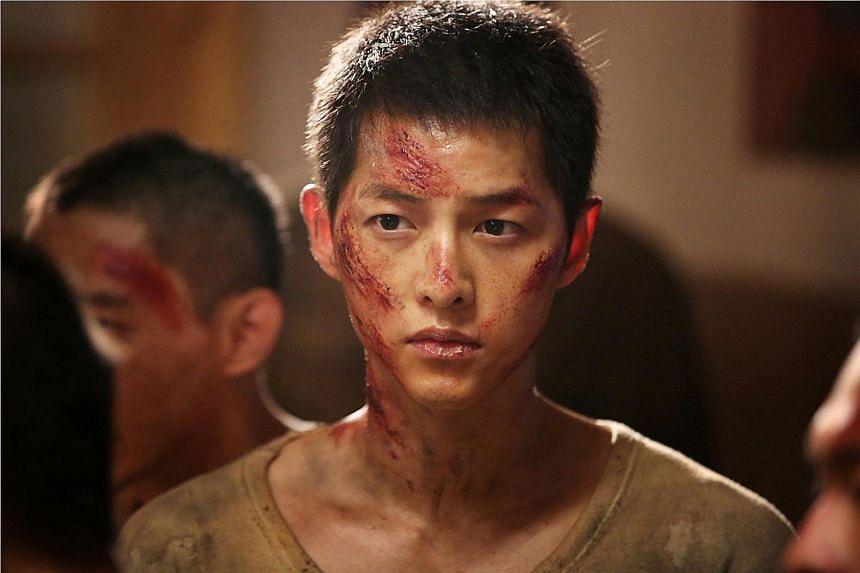 Korean actor Song Joong Ki in the wartime thriller The Battleship Island.
