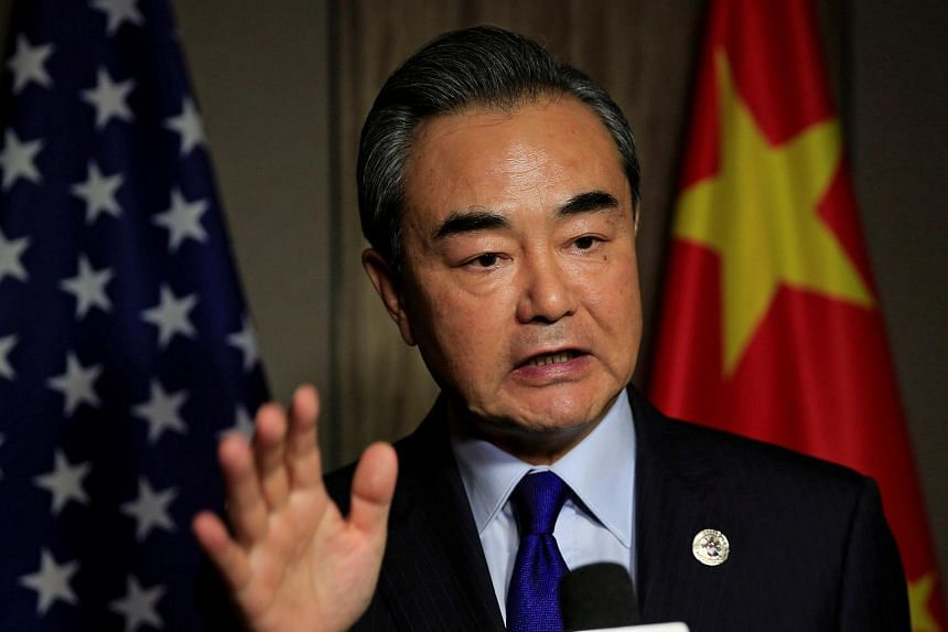 Chinese Foreign Minister Wang Yi answers questions after a meeting in Manila, Philippines on Aug 6, 2017.