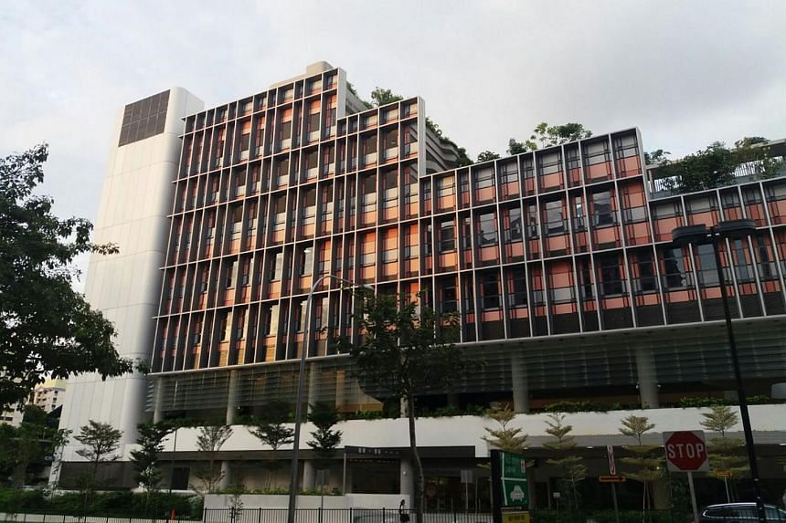 The facade of the 11-storey Kampung Admiralty development in Woodlands on Aug 7, 2017.