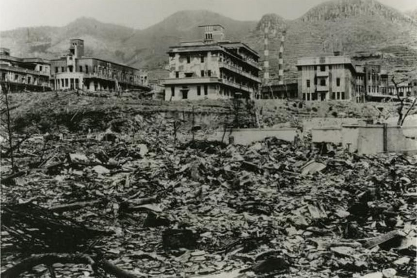 Nagasaki Medical College, which was damaged by the atomic bombing of Nagasaki, on Aug 9, 1945.