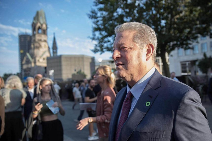 Former US vice-president Al Gore arriving to attend a screening of An Inconvenient Sequel: Truth to Power at the Zoo Palast cinema in Berlin on Aug 8, 2017.