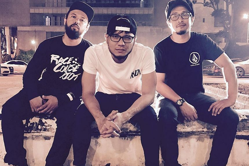 Punk band Iman's League are made up of (above from left) Hosni Altway, Nuriman Mohd Nor and Ishyam Lal Abdul Jalal.