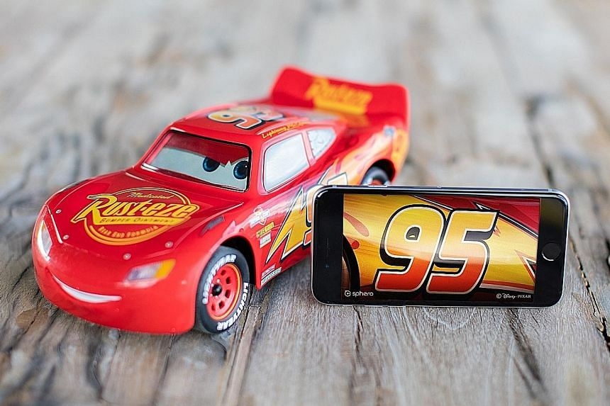 The life-like gestures of Sphero's Ultimate Lightning McQueen are due to the six movement motors under its bonnet that control the tyres, suspensions, steering and the front animatronic mouth.