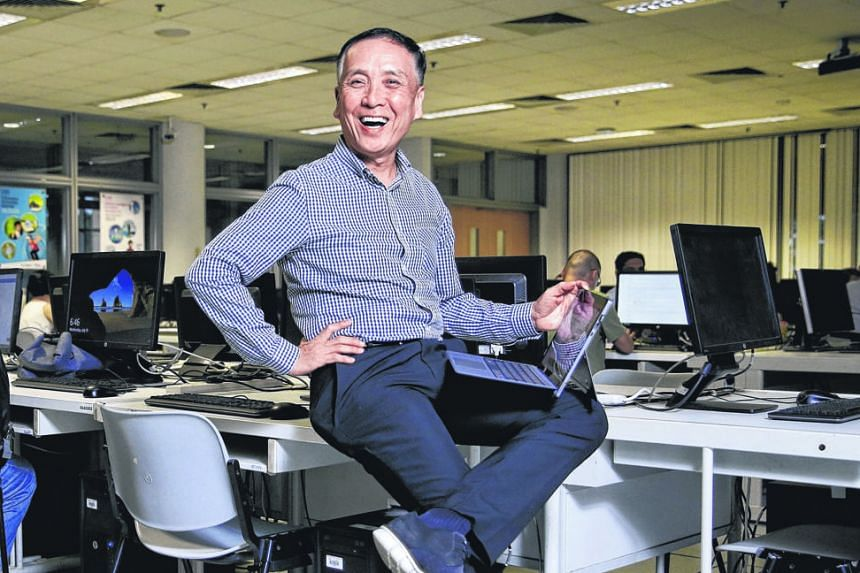 Mr Paul Ng decided to pursue a specialist diploma in business and big data analytics at Nanyang Polytechnic when he reached retirement age.