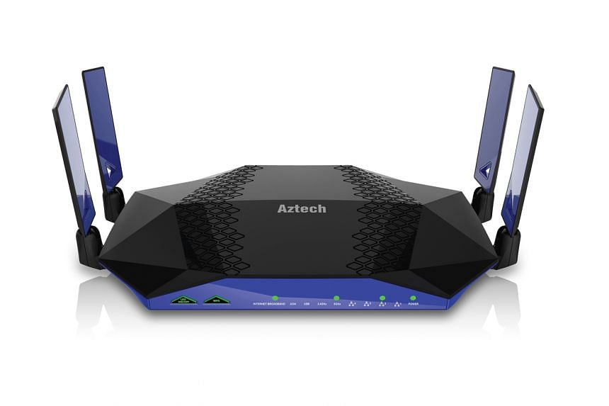 Aztech's dual-band AIR-706P router can link up with other mesh-ready Aztech routers to form a distributed network of wireless nodes that will cover your entire home with Wi-Fi signals.
