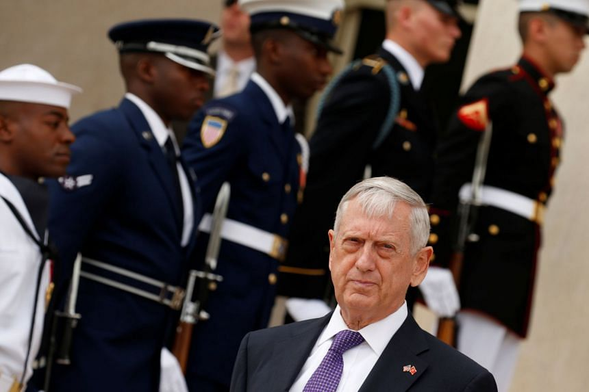 Mattis (above) said the US and its allies have precise defensive and offensive capabilities.