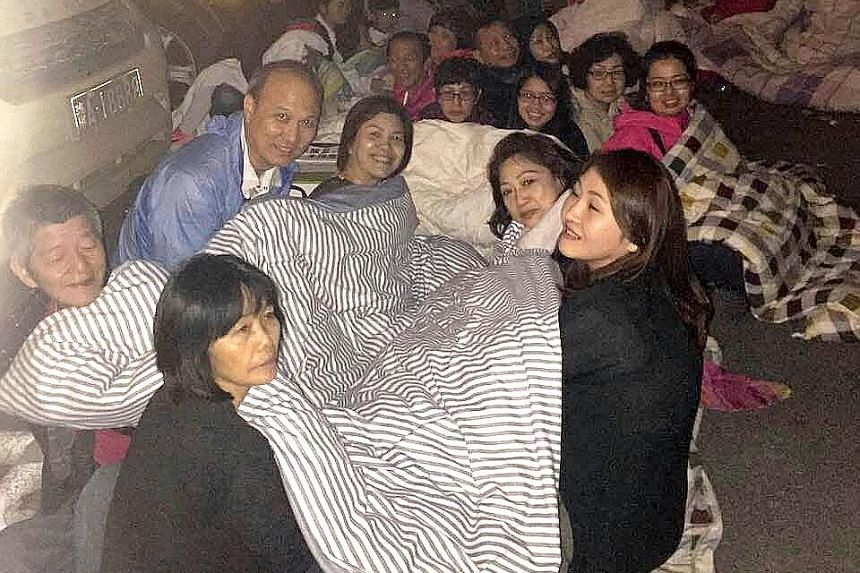 A group of Singapore travellers on a Dynasty Travel tour were in Jiuzhaigou when the earthquake hit on Tuesday. They reached Chengdu safely on a coach at 7pm yesterday.