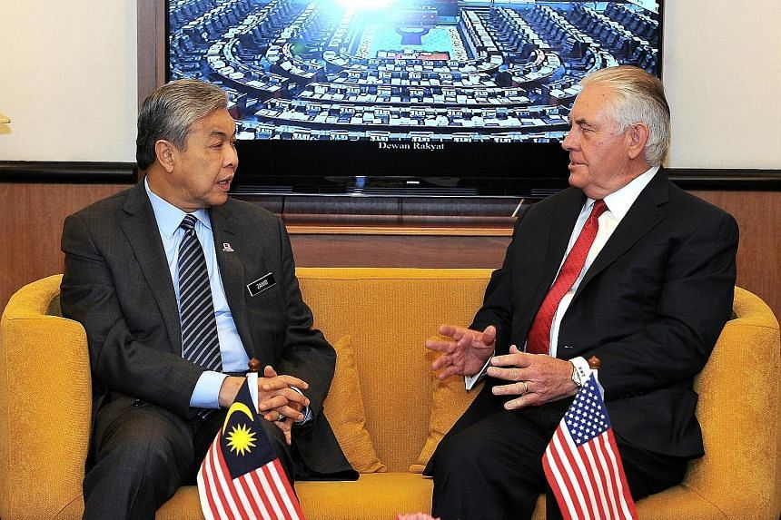US Secretary of State Rex Tillerson called on Deputy Prime Minister Ahmad Zahid Hamidi yesterday as he wrapped up his two-day inaugural visit to Malaysia.
