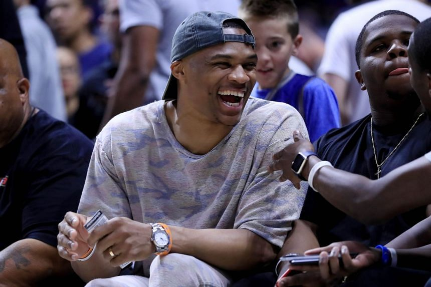 Russell Westbrook of the Oklahoma City Thunder.