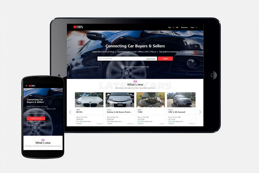 The DBS Car Marketplace is in partnership with established names such as sgCarMart and Carro, and will be the largest direct marketplace in Singapore.