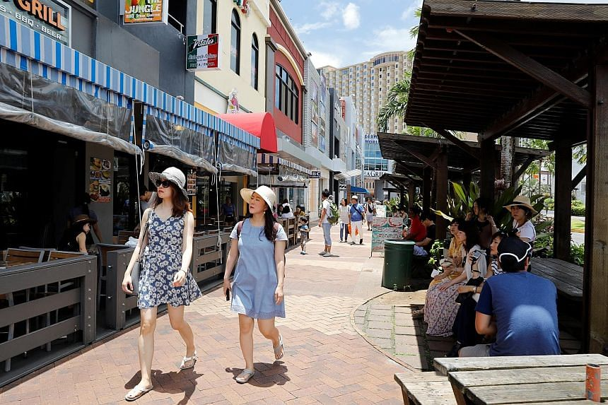 The Tumon tourist district on the island of Guam is popular with Asian visitors, including South Koreans.