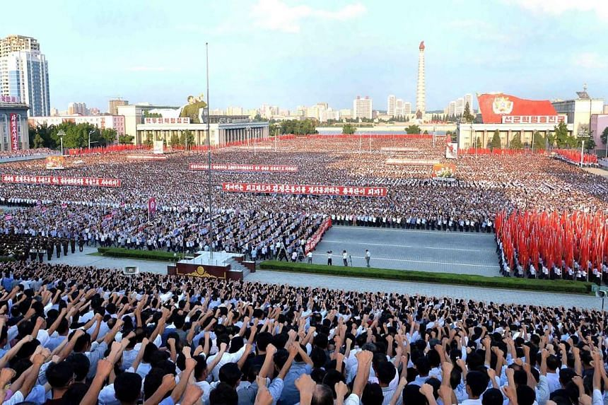 "A rally in Pyongyang on Wednesday in support of North Korea's tough stance against the US. North Korean commander Kim Rak Gyom, referring to US President Donald Trump, said yesterday that ""sound dialogue is not possible with such a guy bereft of reas"