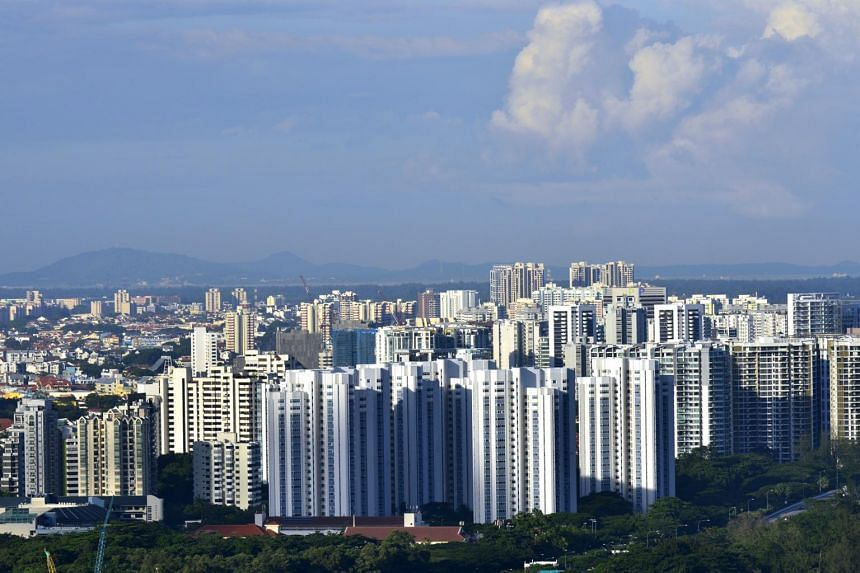 Condominiums and HDB flats in the eastern part of Singapore.