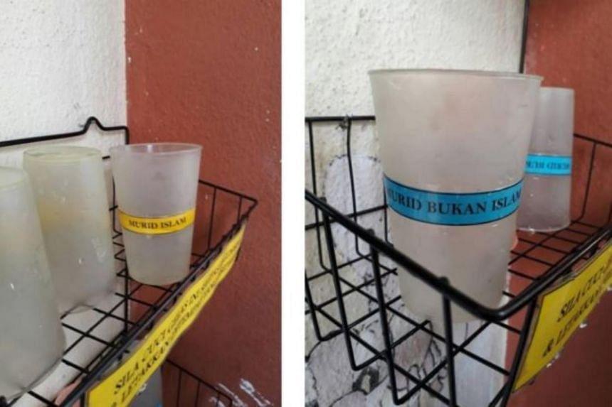 Sekolah Kebangsaan Taman Puteri allegedly designates separate drinking cups for Muslim and non-Muslim students.
