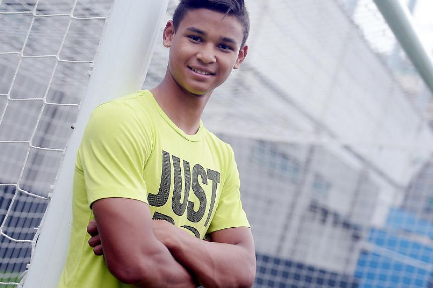 Irfan Fandi, son of the Singapore football legend Fandi Ahmad, ready to lead the forward line at the upcoming SEA Games PHOTO: BERITA HARIAN