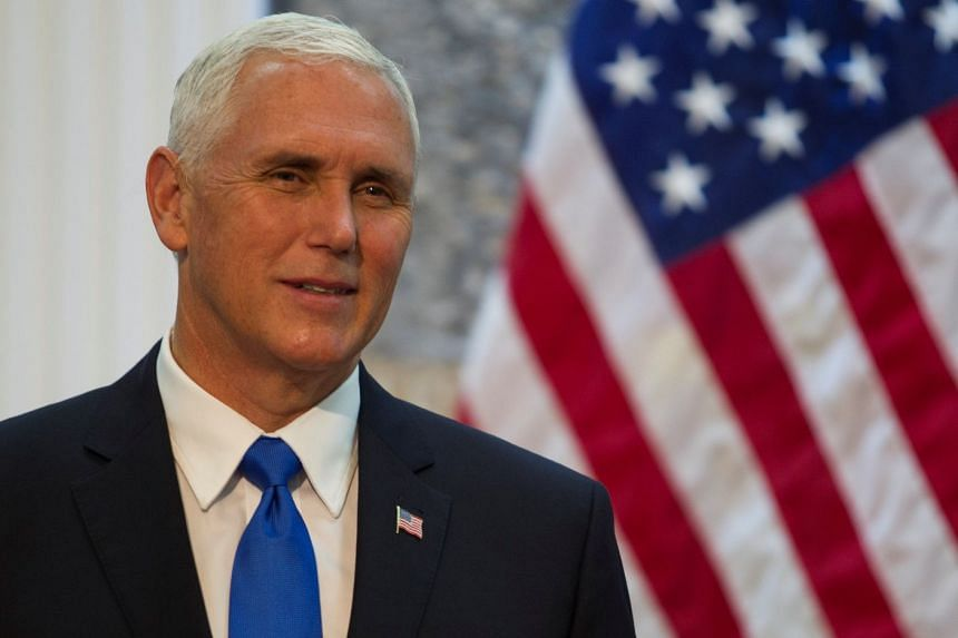 US Vice President Mike Pence smiles during a press conference ahead of a bilateral meeting in Podgorica, Montenegro, on Aug 2, 2017.